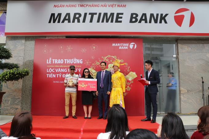 Maritime Bank dành nhiều giải thưởng cho khách hàng.