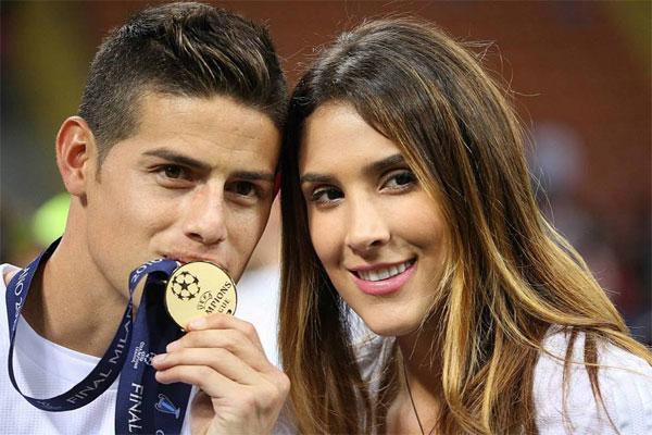 James Rodriguez và Daniela Ospina khi còn bên nhau. Ảnh: NS.