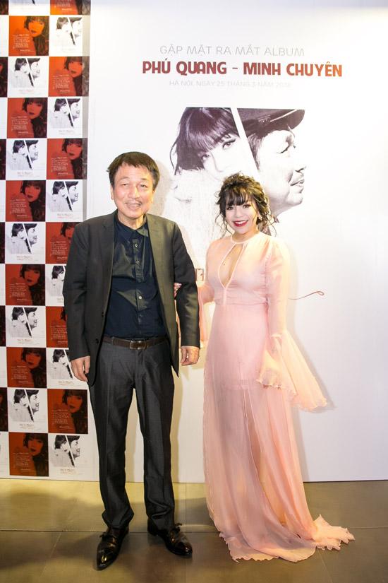 Nhạc sĩ Phú Quang và ca sĩ Minh Chuyên.