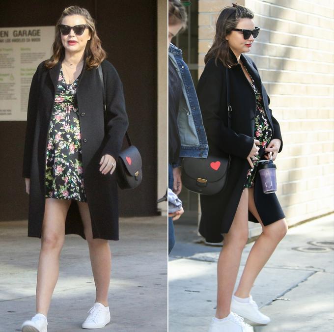 Bà bầu xỏ giày sneaker đi chơi cho an toàn và thoải mái.