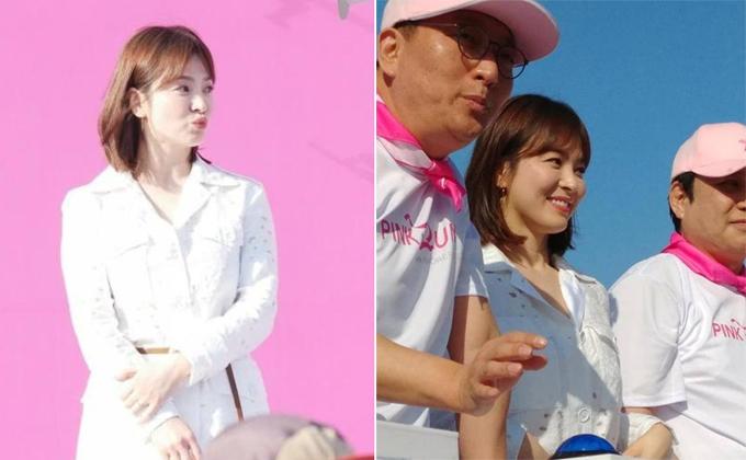 Nét tươi trẻ đáng yêu của Hye Kyo đốn tim người hâm mộ.