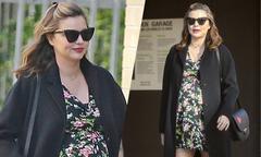 Miranda Kerr mặt béo tròn khi mang thai ở tháng cuối