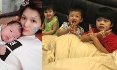 Hoa hậu Oanh Yến tái xuất sau 2 tháng sinh con thứ tư