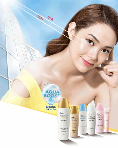 Màng nước Skin Aqua có chỉ số chống nắng cao, giúp đánh bật các tia cực tím và bảo vệ da khỏi tác hại của ánh nắng mặt trời.