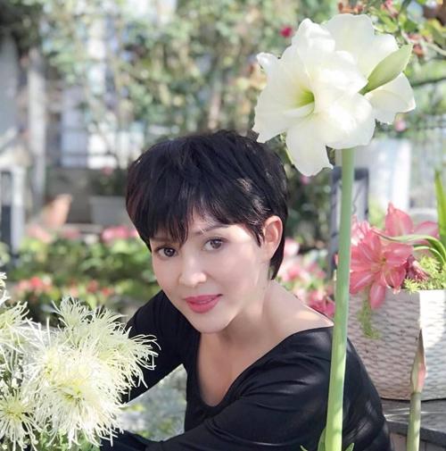 Chị Mộc Lan ở Tây Hồ, Hà Nội là chủ nhân của ban công rộng 30 m2 phủ kín hoa. Bên cạnh 10 gốc hồng lớn và một số khóm hồng mini; chị trồng thêm hoa sen, hoa súng.
