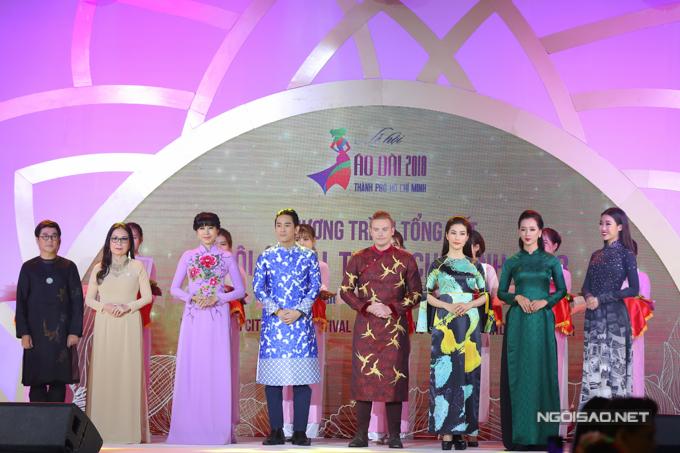 Lễ hội áo dài năm nay thu hút nhiều nghệ sĩ đồng hành với vai trò đại sứ.
