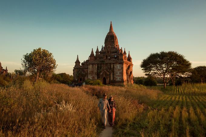 Uyên ương chạy đua cùng mặt trời khi chụp ảnh cưới ở Bagan - 11