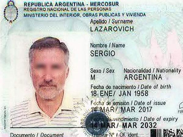 Thẻ căn cước cũ của Sergio trước khi chuyển thành Sergia.
