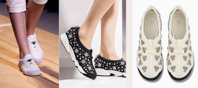 3 mẫu giày nằm trong BST mới của nhà mốt Dior.