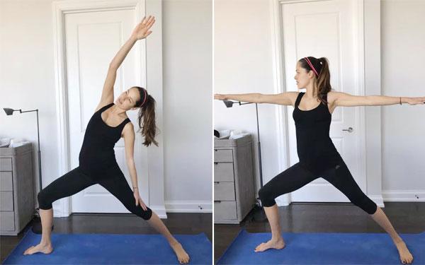 Ivanovic nhẹ nhàng tập yog sau một tuần ở cữ