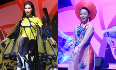 Diễm My 9X, Linh Nga làm người mẫu diễn áo dài