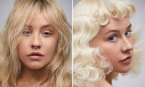 Christina Aguilera hoàn toàn khác lạ khi để mặt mộc