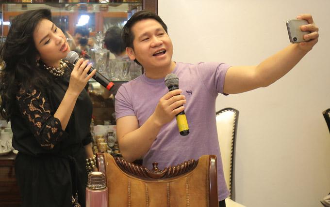 Thanh Lam, Trọng Tấn đến nhà riêng nhạc sĩ Phú Quang để tập nhạc - 2