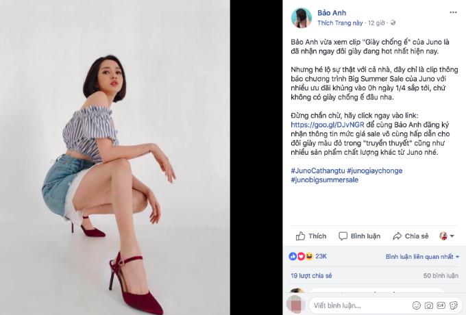Bảo Anh chỉ cách săn giày thòi trang giá rẻtiết lộ chương trình Big Summer Sale của Juno với loạt ưu đãi bất ngờ (Xin edit) - 1