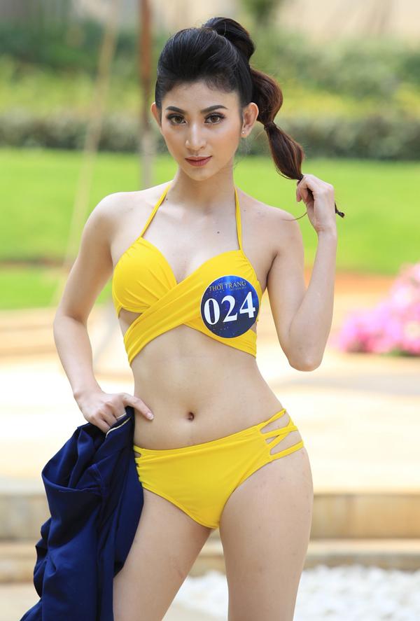 Thí sinh Hồ Thị Bảo Ngân của Ninh Thuận lọt top 4 Thí sinh có phong cách trình diễn xuất sắc.