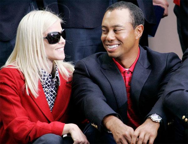 Tay golf lừng danh một thời và vợ cũElin Nordegren. Ảnh: Sun.