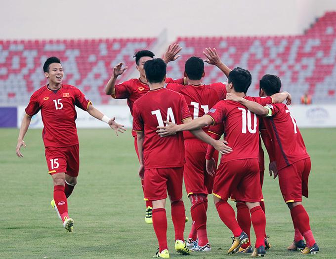 Việt Nam kết thúc vòng loại Asian Cup 2019 với thành tích bất bại sau trận hòa 1-1 trên sân của Jordan tối 27/3. Ảnh: NĐ.