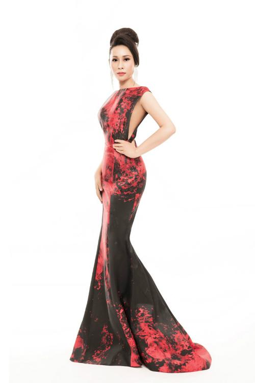 Hoa hậu Hạnh Lê sở hữu thân hình thon gọn, làn da trắng.