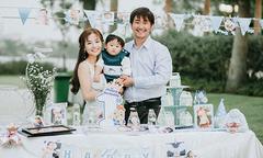 Vợ chồng Khánh Hiền làm tiệc ngoài trời mừng thôi nôi quý tử