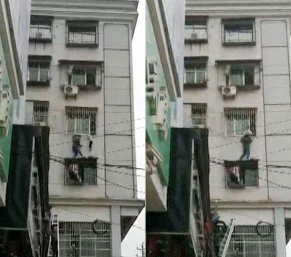Một nhân chứng nhanh nhẹn giải cứu bé trai.