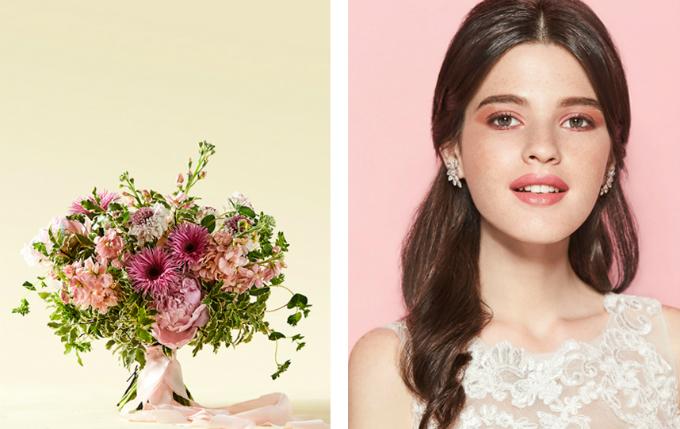 Hoa cưới đồng điệu make up thể hiện rõ chất của nàng dâu
