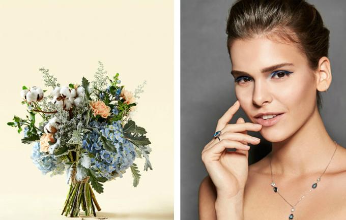 Hoa cưới đồng điệu make up thể hiện rõ chất của nàng dâu - 1