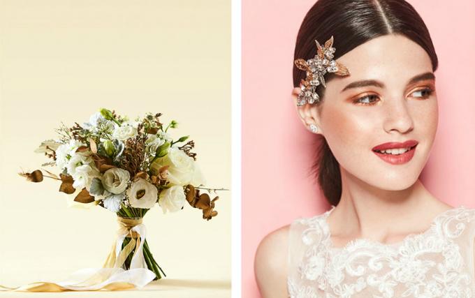 Hoa cưới đồng điệu make up thể hiện rõ chất của nàng dâu - 2