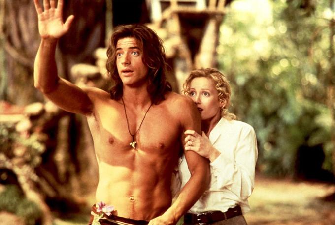 Brendan Fraser từng gây ấn tượng với vai chàng Tazan 6 múi cao to trong phim George of the Jungle hay nhà khảo cổ học OConnell mạnh mẽ, quyến rũ trong bộ 3 The Mummy (Xác ướp Ai Cập).
