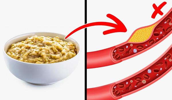 Giảm cholesterol Trong yến mạch có chứa acide linéique và chất xơ hòa tan, khi dùng yến mạch hàng ngày sẽ giảm nồng độ triglycéride và cholesterol xấu trong máu.
