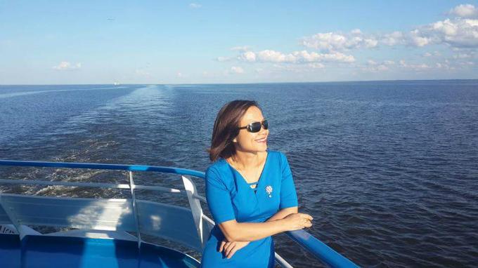 Chị Vũ Thị Thanh Vân, sinh sống và làm việc tại Hà Nội đã có một chuyến đi đáng nhớ trên con tàu