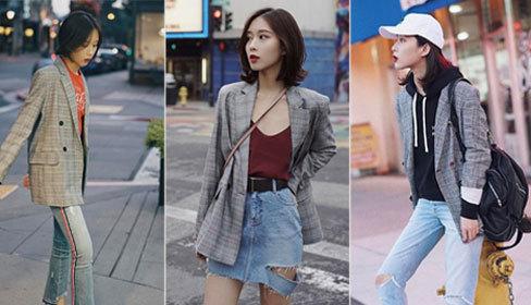 7 cách diện một chiếc blazer kẻ hot trend