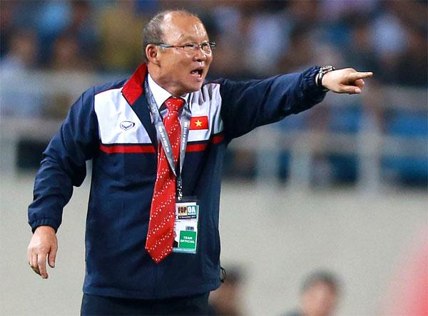 HLV Park Hang-seo thay đổi bộ mặt bóng đá Việt Nam. Ảnh: NN.