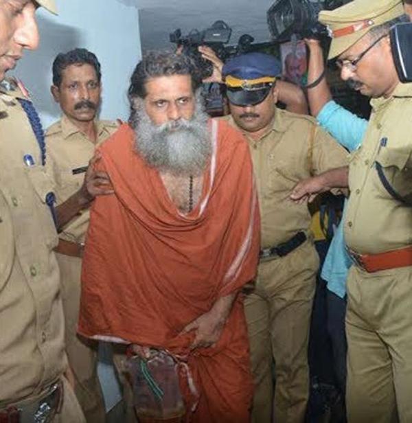 Swamy Gangeshananda bị cảnh sát bắt hồi năm ngoái. Ảnh: