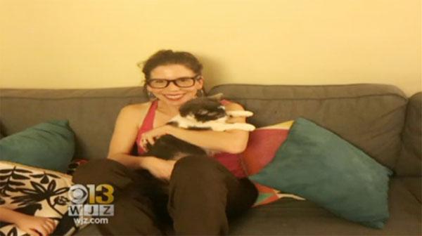 Betsy và con mèo yêu thích nhất của mình - Stanley.