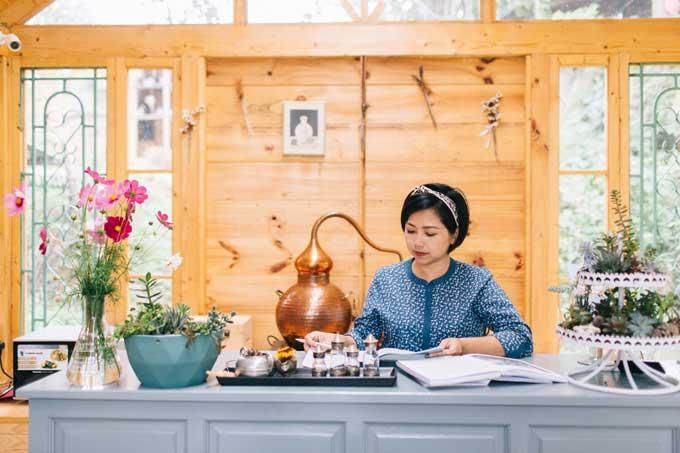 Những khi làm việc cần yên tĩnh và tập trung, chị cũng về Đà Lạt. Thiên nhiên đem đến cho chị nhiều cảm hứng sáng tạo.