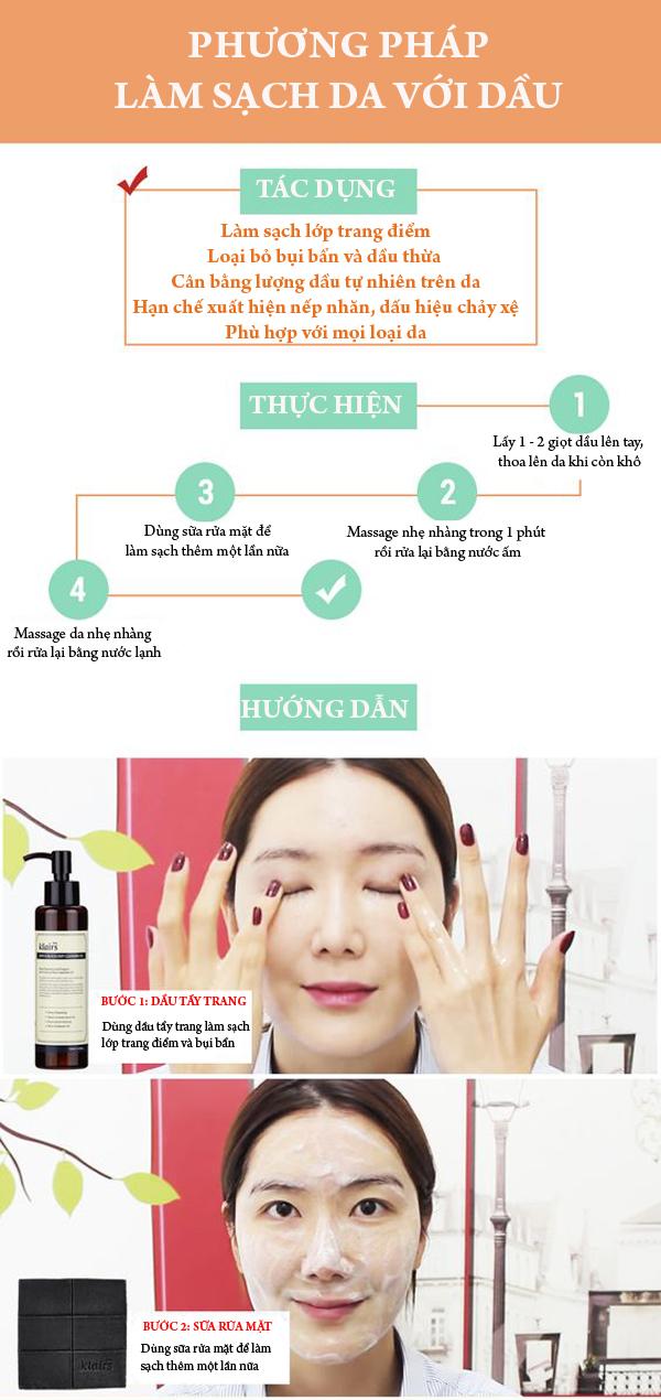 5 lợi ích cho da khi bạn sử dụng phương pháp làm sạch da với dầu