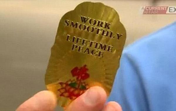 Thẻ bài mà cácnhà sư giả dùng để lừa những người nhẹ dạ cả tin.