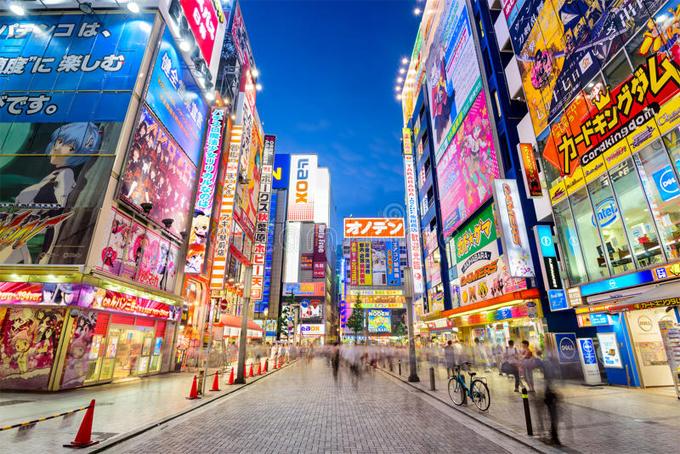 Khu phố đồ điện tử, game... nổi tiếng nhất ở Tokyo cũng như cả Nhật Bản.