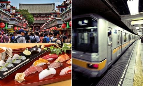 Gợi ý hai lịch trình tham quan Tokyo bằng tàu điện ngầm