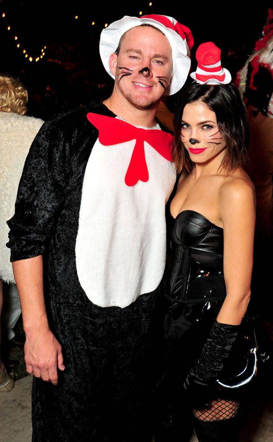 Trong 12 năm gắn bó, Channing và Jenna lúc nào cũng quấn quýt bên nhau trong mọi sự kiện. Thậm chí cặp đôi cũng không ngại hóa trang ton sur ton để tham gia các bữa tiệc Halloween.