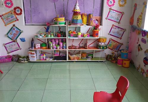 Tầng 3, trường mầm non Việt Lào nơi bà Nghĩa tấn công chị Hiên. Ảnh: Anh Thư.