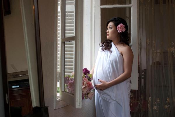 Chị Nguyệt Minh từng tăng tới 75 kg khi mang bầu.