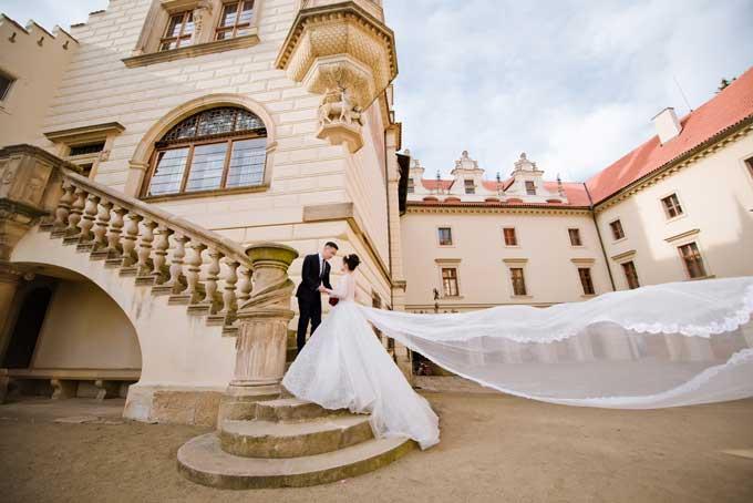 Ảnh cưới chụp tại Séc của đôi uyên ương yêu qua Facebook - 7