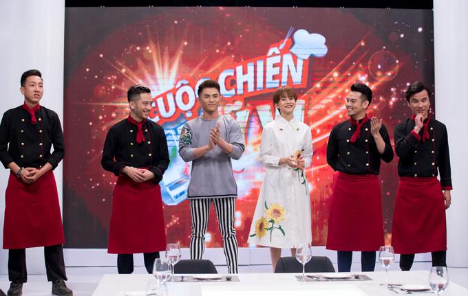 MC Will và An Nguy dẫn dắt Cuộc chiến mỹ vị. Các hot boy đầu bếp phải trổ hết tài nghệ nấu nướng để chinh phục giám khảo khách mời Harry Lu và Nam Em.