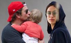 Tài tử Bradley Cooper không ngừng hôn con gái bé bỏng