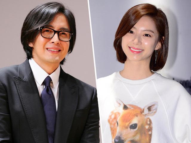 Vợ chồng Bae Yong Joon và Park Soo Jin.