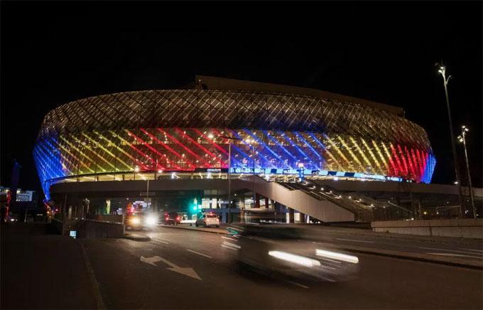 Sân Tele2 Arena, nơi xảy ra vụ việc. (Nguồn: mimoa.eu)