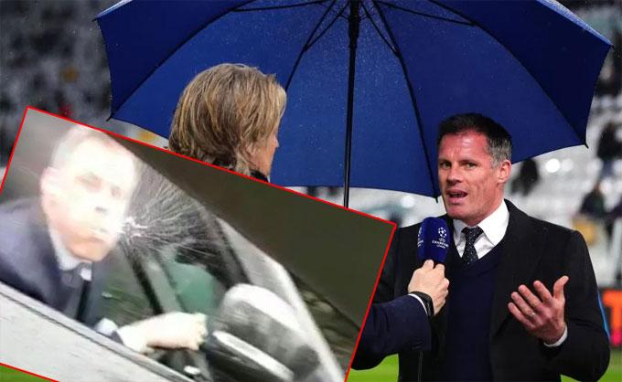 Carragher xuất hiện trên kênh TV3 Sport của Đan Mạch. Ảnh: NS.