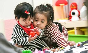 Hai con gái cưng xinh xắn của 'nàng Triệu Mẫn' Giả Tịnh Văn