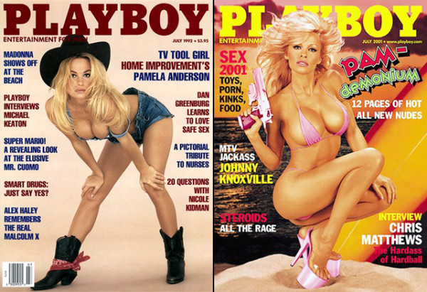 Pamela nhiều lần lên trang bìa của tạp chí Playboy. Cô sau đó trở thành người bạn thân thiết của tổng biên tập Hugh Hefner.